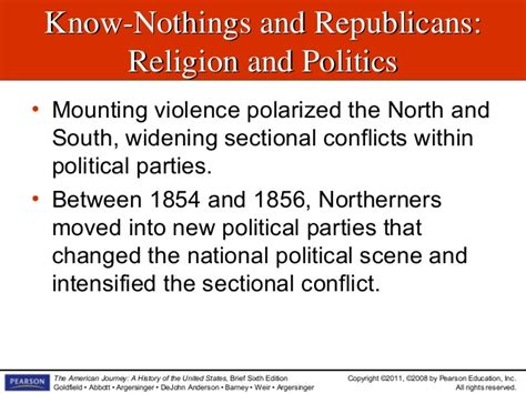 sectional discord the politics of sectionalism slideshow chapter 14