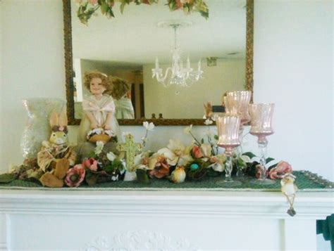 easter mantel decorations the at fireplacemall