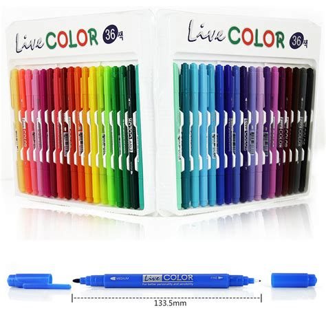Color Marker Pen 36 colors set ended tip sketch