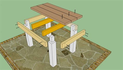 patio table plans howtospecialist how to build step by step diy plans