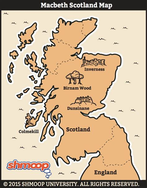 macbeth themes shmoop macbeth map of scotland infographics pinterest