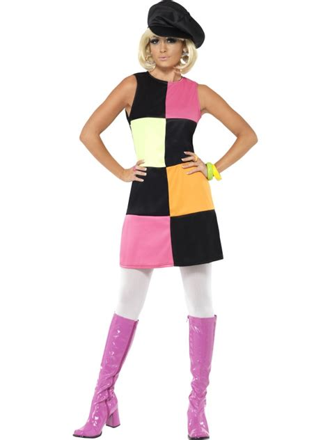 swinging in the 70s swinging 60s 70s sixties ladies fancy dress costume outfit