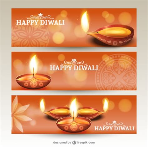 banner design deepavali diwali banners pack vector free download