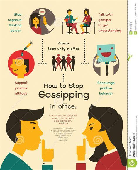 gossip head office how to stop gossiping in office stock vector image 53564213