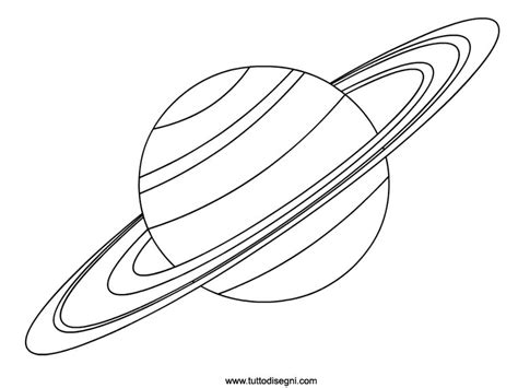 Printable Coloring Page Saturn Saturn Coloring Pages
