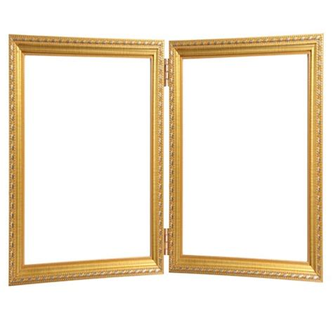 buy wooden fiber two fold photo frame leo 2 at lowest rate