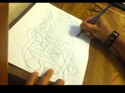 cursive old english tattoo lettering youtube