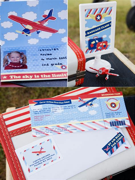 Introducing Our Downloadable Invites by Pilot Airplane Inspired Birthday Ideas