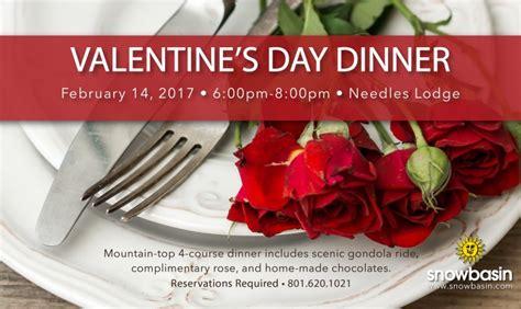 valentines dinner in s dinner at needles lodge snowbasin