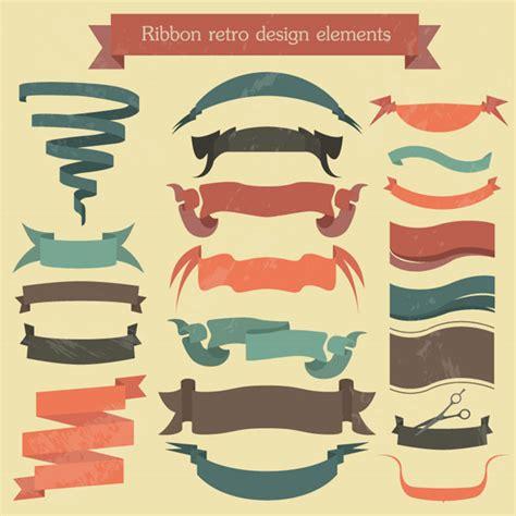 Pita Design Ribbon Hadiah Kado desain retro pita vector latar belakang vektor gratis gratis