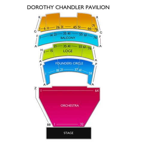 dorothy chandler pavilion seating view dorothy chandler pavilion seating chart seats