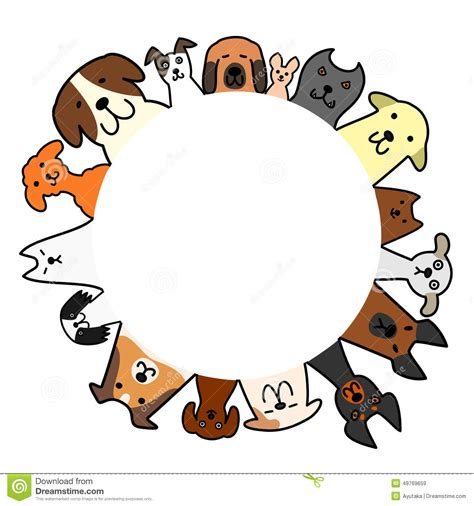 Circle Dogs dogs circle with copy space stock vector image 49769659