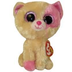 ty beanie boos anabelle pink amp cream cat glitter