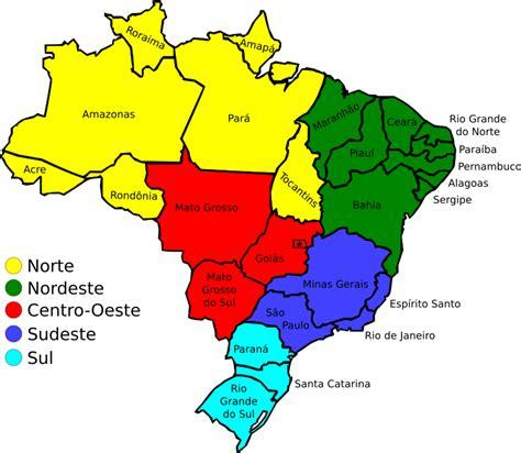 map of brazil states map of brazil v3 by j alves a map of brazil and its