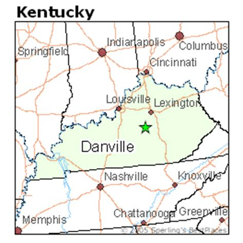 ky map danville best places to live in danville kentucky