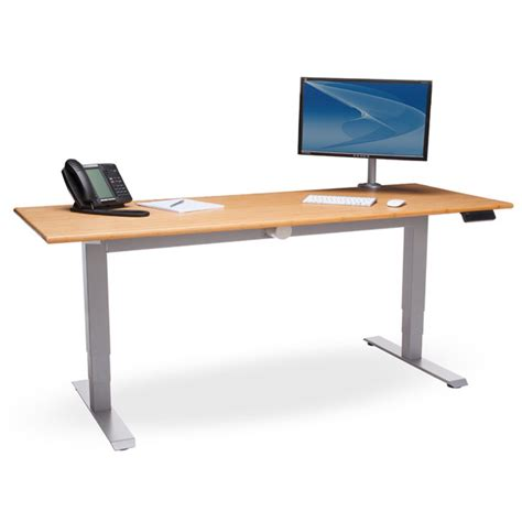 motorized stand up desk ofm hat 3060 pln motorized height adjustable stand up desk