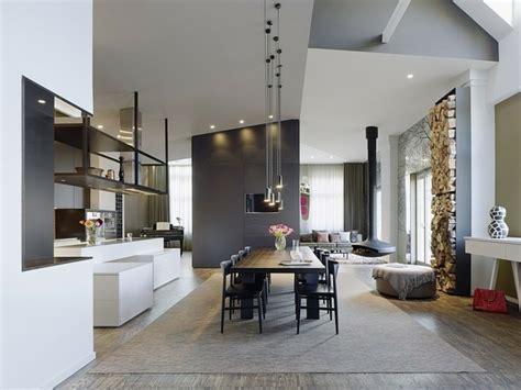 Bien Amenagement Salon Salle A Manger Rectangulaire #2: peinture-grise-salle-manger-table-rectangulaire-ottoman.jpg