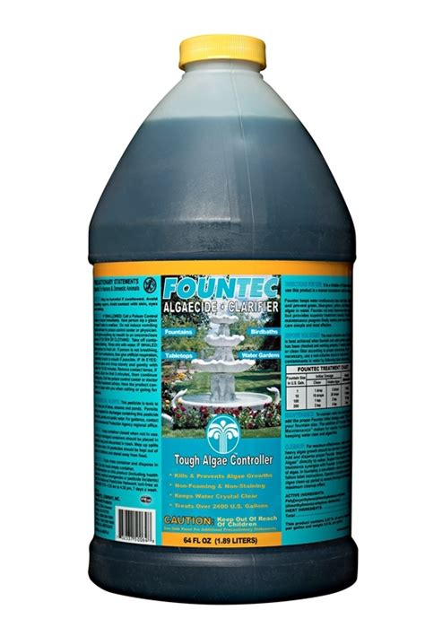 fountec fountain algaecide clarifier ebay