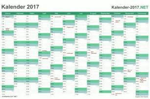 Kalender 2017 Tage Kalender 2017 Mit Feiertagen Ferien
