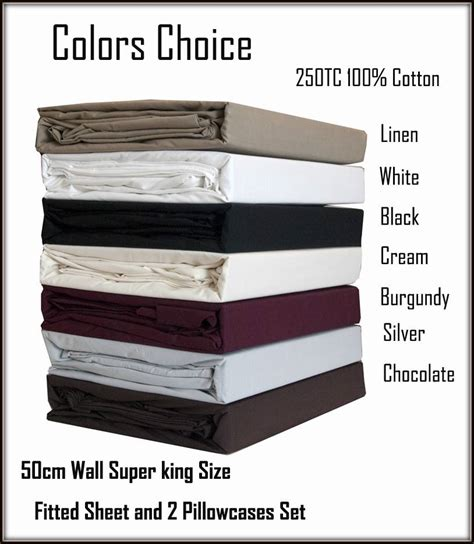 King Size Fitted Sheet For Mattress by Wall 50cm King Size Bed Fitted Sheet 2 Pillowcases