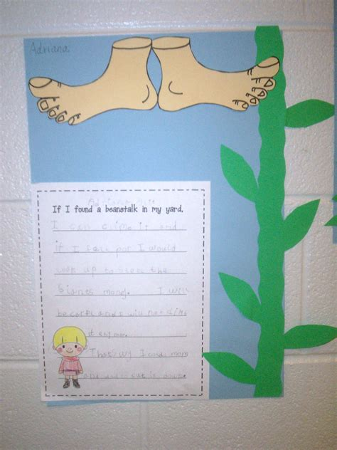 and the beanstalk writing school stuff
