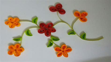 How To Make Paper Quilling Flower - how to make easy quilling paper flower card for beginner