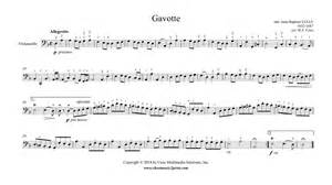 Gavotte Suzuki Book 2 Lully Gavotte In D Minor Cello
