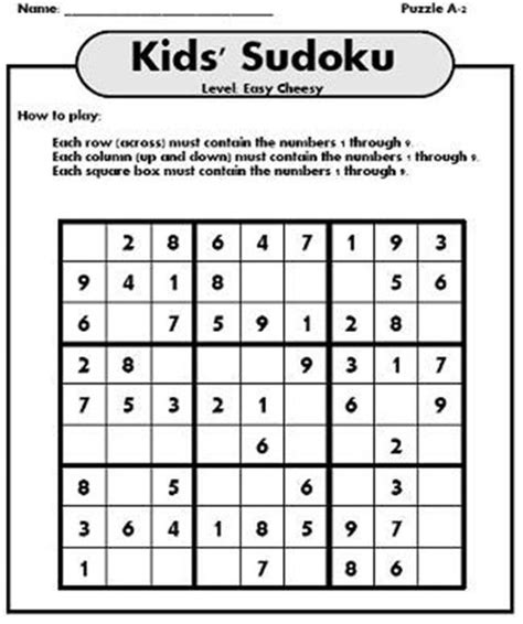 printable sudoku directions related keywords suggestions for newspaper games