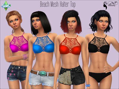 sims 4 female halter top beach mesh halter top by simgirlnextdoor at tsr 187 sims 4