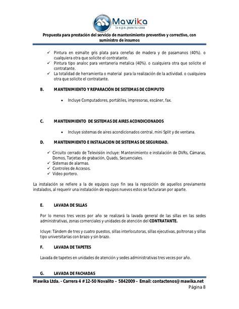 carta tipo propuesta comercial propuesta comercial