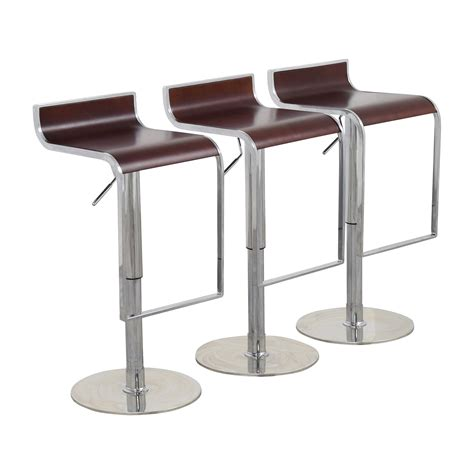 reclining bar stools 84 off inmod inmod forest brown adjustable bar counter