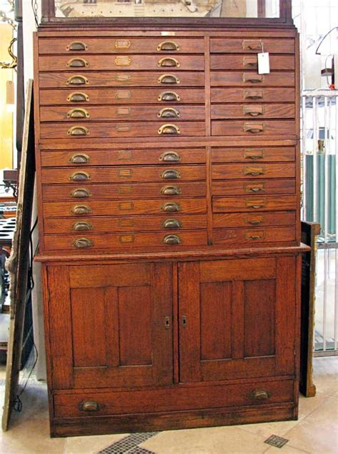 Antique Map Cabinet by Map Cabinet Cubbies And