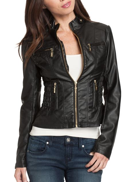 Faux Leather Jacket by Guess Pallus Faux Leather Jacket Ebay