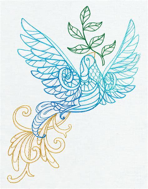 embroidery design dove delicate december dove urban threads unique and
