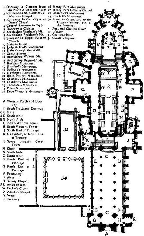 canterbury cathedral floor plan the cathedrals of great britain by p h ditchfield
