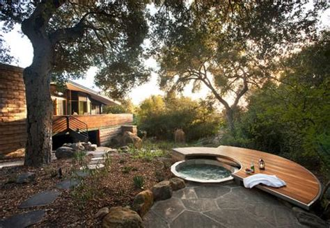backyard spa parts 8 ways to beautifully integrate an outdoor hot tub