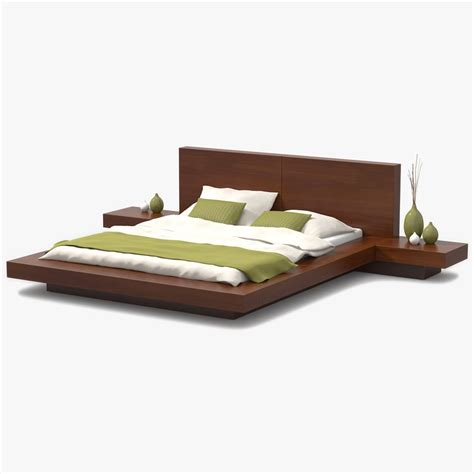 cherry wood bed 3d platform bed cherry wood