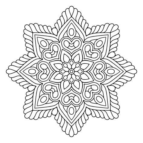 imagenes en blanco y negro de mandalas mandala floral blanco y negro descargar vectores gratis