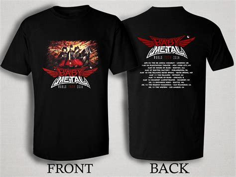 Baby Metal Band Black T Shirt Xl baby metal 2016 world tour t shirt size s m l xl 2xl 3xl