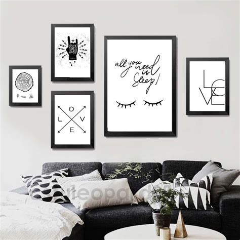 home decor posters minimalism quote art canvas poster print abstract black