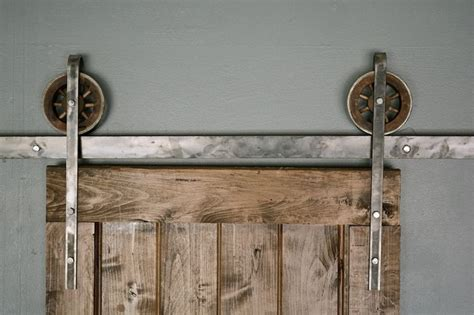 6 ft rustic european sliding barn door closet hardware