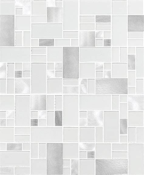 white glass metal modern backsplash tile  contemporary