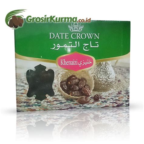 Grosir Kurma Date Crown Khalas 1karton date crown khenaizi 1 kg 1 dus 10 pack grosir kurmagrosir kurma