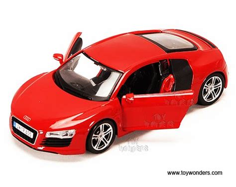 audi r8 toy car – Audi R8 Hard Top, Red   Maisto 31281R   1/24 Scale Diecast