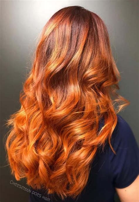 hairstyle color ideas for long hair 50 copper hair color shades to swoon over fashionisers