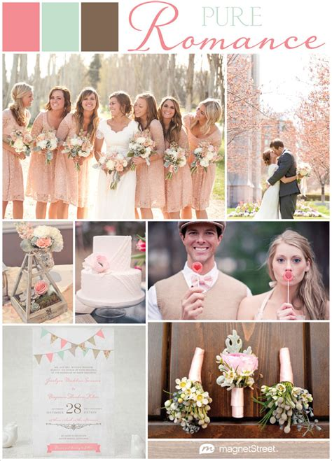 pink green  brown wedding colorspink green  brown