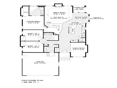 deck house plans bungalow house floor plans single storey bungalow house