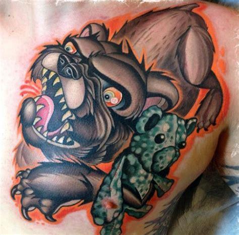 tattoo new school bear tatuajes nueva escuela