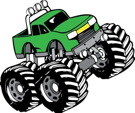 free monster truck videos monster truck cartoon clipart wikiclipart