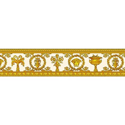 gold wallpaper trim versace vanitas white gold wallpaper border 34305 2